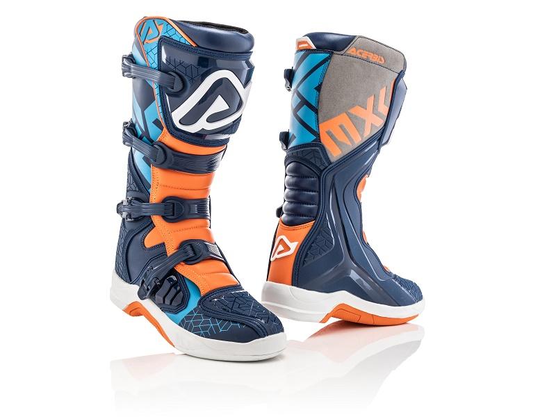 Botas ACERBIS X-TEAM Azul/Naranja