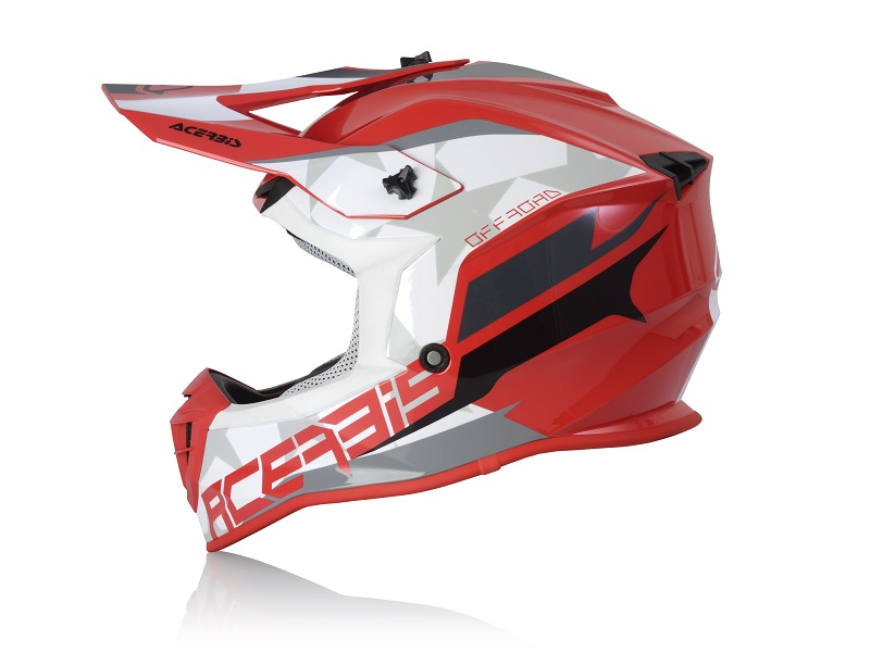 Casco ACERBIS Linear Rojo/Blanco