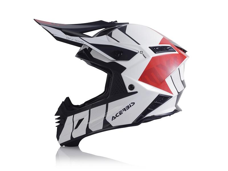 Casco ACERBIS X-Track Blanco/Rojo