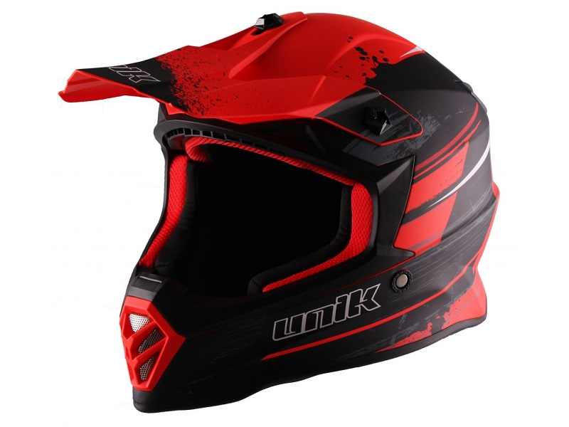 Casco Motocross Infantil Unik CX-20 Rojo Flúor/Negro