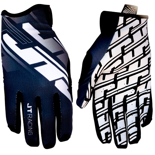 Guantes JT RACING PRO-FIT TRACKER Negro/Blanco