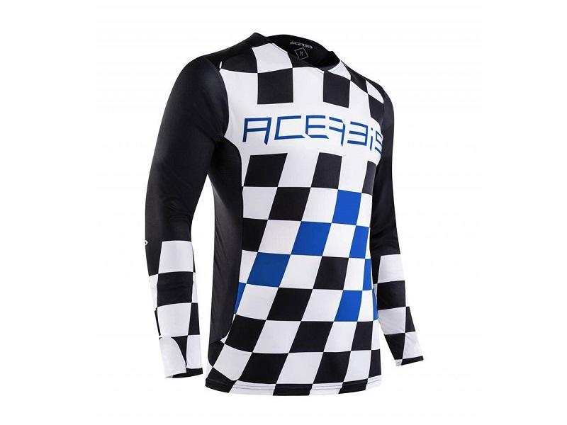 Jersey ACERBIS MX Start & Finish Negro/Azul