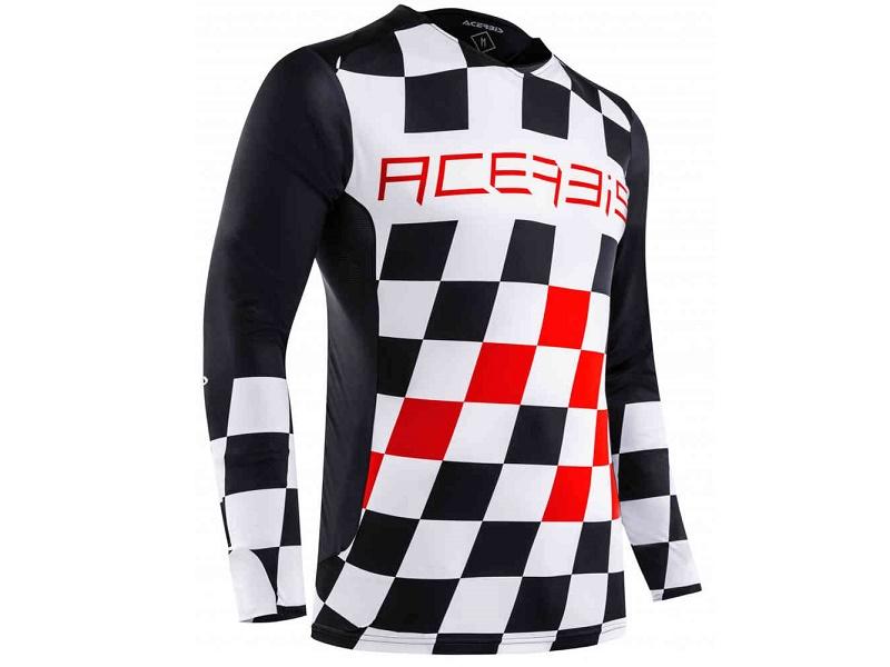 Jersey ACERBIS MX Start & Finish Negro/Rojo