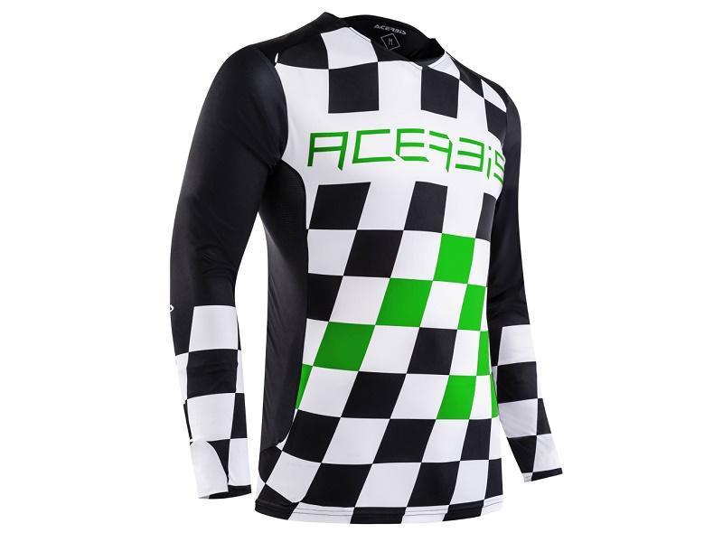 Jersey ACERBIS MX Start & Finish Negro/Verde