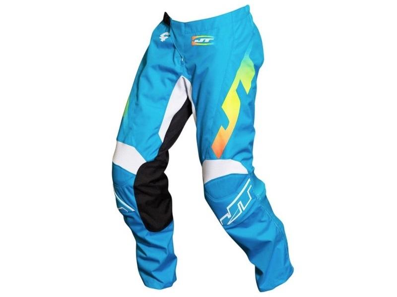 Pantalón JT Racing C4 Rasta Azul Cian